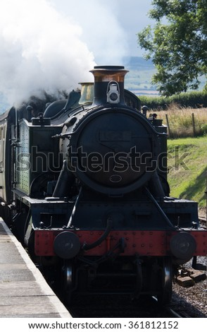 Large Prairie class locomotive - stock photo