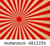 large red and white japanese rising sun - stock vector