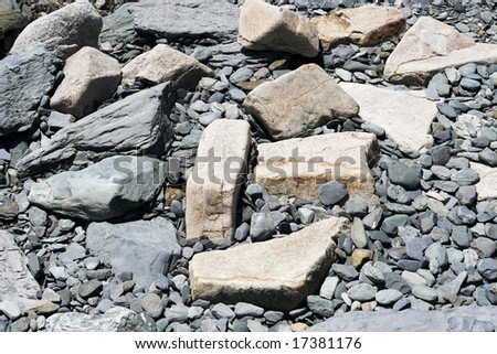large rocks and stones
