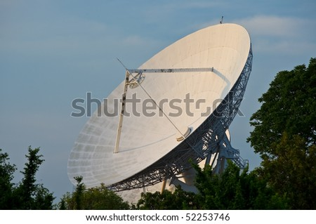 Large satellite dish, Thailand - stock photo