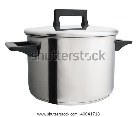 Large saucepan isolated on a white background