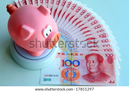 large savings in Chinese bucks for a piggy bank