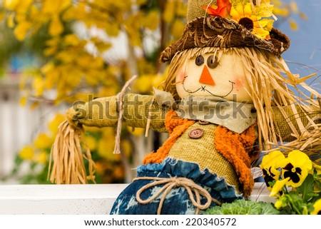 Large scarecrow handmade for Halloween.