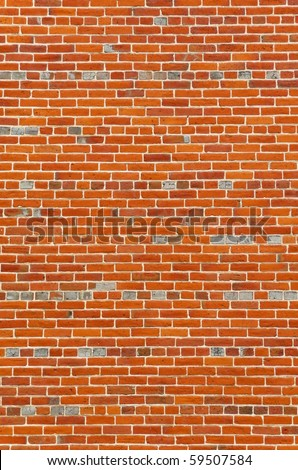 Large section of colorful vintage brick wall background - stock photo