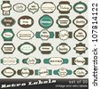 Large set of 30 vintage premium and high quality labels - stock photo
