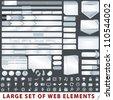 Large set of web design elements - stock photo