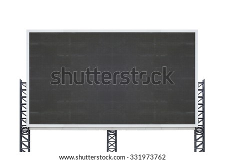 large sign board isolated on a white background