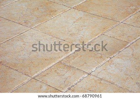 Large stone tiles on the floor.