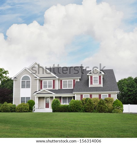 Large Suburban McMansion Style Home  - stock photo