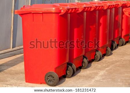 Large trash cans (garbage bins) - stock photo