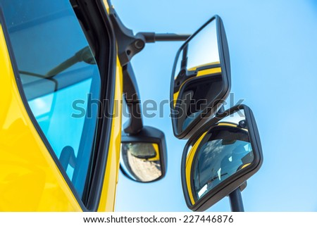 Large truck details - stock photo