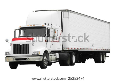 large truck isolated on white background with clipping path