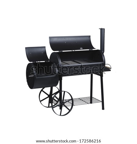 large two-piece grill in the open state