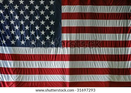 Large USA Flag - stock photo