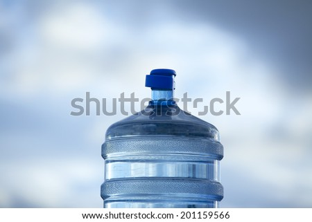 Large Water Bottle - stock photo