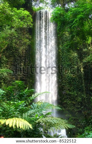 Largest man made waterfall - stock photo