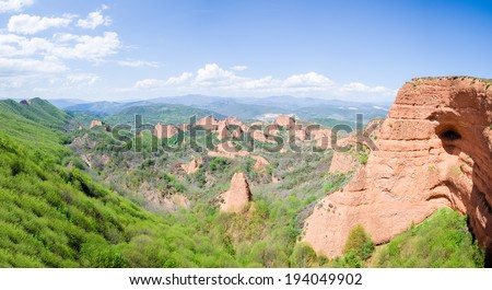 Las Medulas ancient Roman mines, UNESCO, Leon, Spain - stock photo