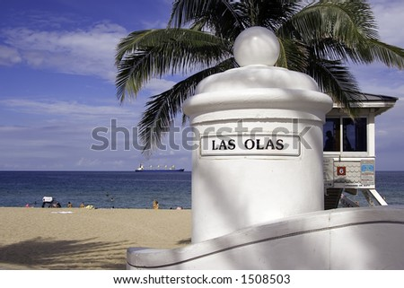 Las Olas, Ft. Lauderdale Beach drive - stock photo