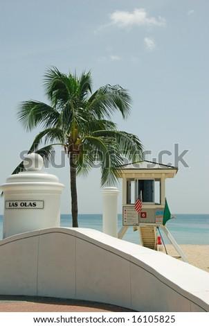 Las Olas Street Lifeguard Station - stock photo