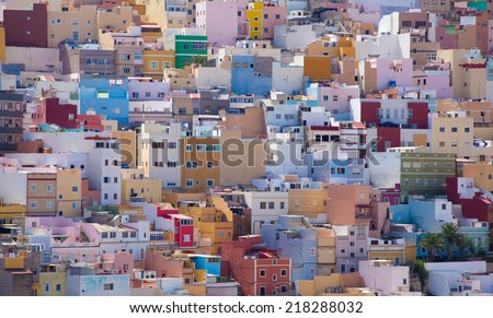 Las Plamas de Gran Canaria, Ciudad Alta, High City - stock photo