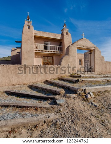 Las Trampas, also known as the San Jose de Gracia Church, in Las Trampas, New Mexico