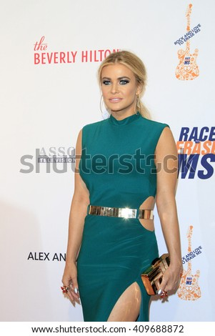 LAS VEGAS - APR 15:  Carmen Electra at the  23rd Annual Race To Erase MS Gala at the Beverly Hilton Hotel on April 15, 2016 in Beverly Hills, CA - stock photo