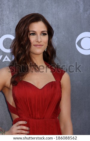 LAS VEGAS - APR 6:  Cassadee Pope at the 2014 Academy of Country Music Awards - Arrivals at MGM Grand Garden Arena on April 6, 2014 in Las Vegas, NV - stock photo