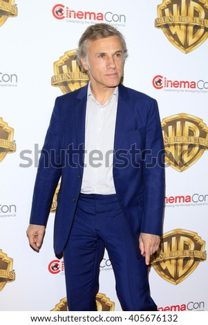 LAS VEGAS - APR 12: Christoph Waltz at the Warner Bros. Pictures Presentation during CinemaCon at Caesars Palace on April 12, 2016 in Las Vegas, Nevada - stock photo