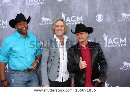 LAS VEGAS - APR 6:  Cowboy Troy, Big & Rich at the 2014 Academy of Country Music Awards - Arrivals at MGM Grand Garden Arena on April 6, 2014 in Las Vegas, NV