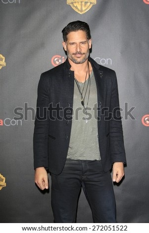 LAS VEGAS - APR 21: Joe Manganiello at the Warner Bros. Pictures Exclusive Presentation Highlighting the Summer of 2015 and Beyond at Caesars Pallace on April 21, 2015 in Las Vegas, NV - stock photo