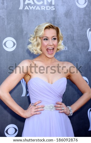 LAS VEGAS - APR 6:  Kellie Pickler at the 2014 Academy of Country Music Awards - Arrivals at MGM Grand Garden Arena on April 6, 2014 in Las Vegas, NV - stock photo