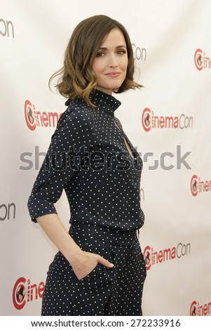 LAS VEGAS - APR 23: Rose Byrne at the Twentieth Century Fox 2015 Presentation at Cinemacon at Caesars Palace on April 23, 2015 in Las Vegas, NV - stock photo