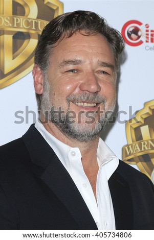 LAS VEGAS - APR 12: Russell Crowe at the Warner Bros. Pictures Presentation during CinemaCon at Caesars Palace on April 12, 2016 in Las Vegas, Nevada - stock photo