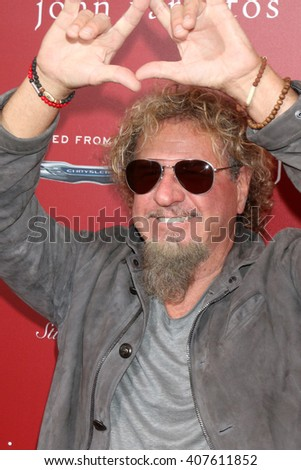 LAS VEGAS - APR 17:  Sammy Hagar at the John Varvatos 13th Annual Stuart House Benefit at the John Varvatos Store on April 17, 2016 in West Hollywood, CA
