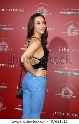 LAS VEGAS - APR 17:  Stella Maeve at the John Varvatos 13th Annual Stuart House Benefit at the John Varvatos Store on April 17, 2016 in West Hollywood, CA - stock photo