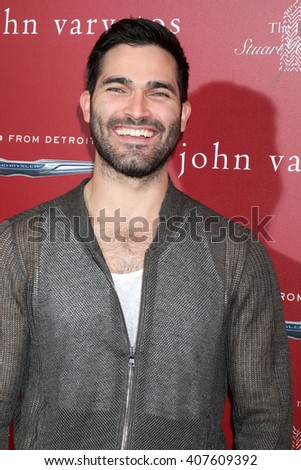 LAS VEGAS - APR 17:  Tyler Hoechlin at the John Varvatos 13th Annual Stuart House Benefit at the John Varvatos Store on April 17, 2016 in West Hollywood, CA - stock photo
