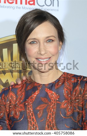 LAS VEGAS - APR 12: Vera Farmiga at the Warner Bros. Pictures Presentation during CinemaCon at Caesars Palace on April 12, 2016 in Las Vegas, Nevada - stock photo