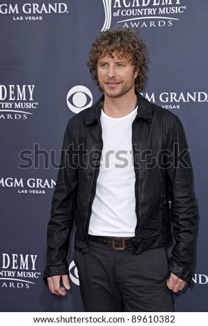 LAS VEGAS - APRIL 3 - Dierks Bentley attends the 46th Annual Academy of Country Music Awards in Las Vegas, Nevada on April 3, 2011.