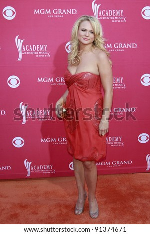 LAS VEGAS - APRIL 5: Miranda Lambert at the 44th annual Academy Of Country Music Awards held at the MGM Grand on April 5, 2009 in Las Vegas, Nevada - stock photo