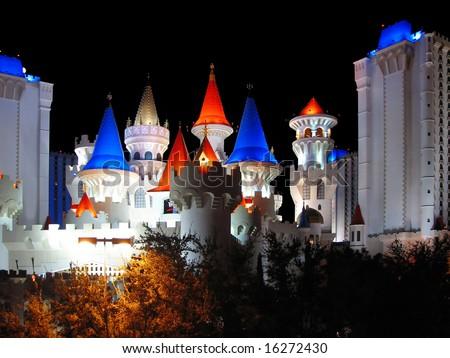 Las Vegas, castle of Artus - stock photo