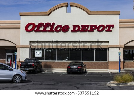 Las Vegas - Circa December 2016: Office Depot Strip Mall Location. Office Depot has combined annual sales of approximately $11 billion II