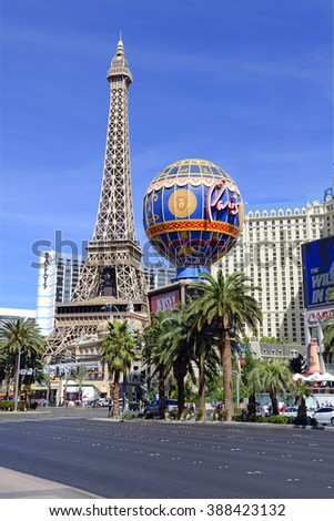 LAS VEGAS, CIRCA MARCH 2016. Despite many newer resort venues being built, both new and old Casinos reliably attract millions of visitors a year, with many gamblers hoping to hit the jackpot . - stock photo