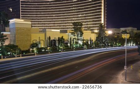 Las Vegas city traffic - stock photo