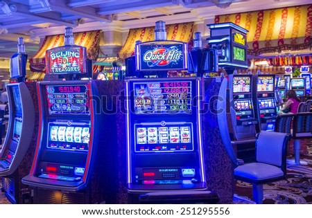 LAS VEGAS - FEB 04 : The interior of Bellagio hotel and casino on February 04 2015 in Las Vegas. Bellagio is a luxury hotel and casino located on the Las Vegas Strip. The Bellagio opened on 1998. - stock photo
