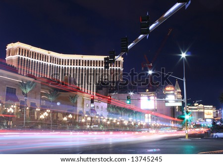 Las Vegas Hotel on the Strip at Night