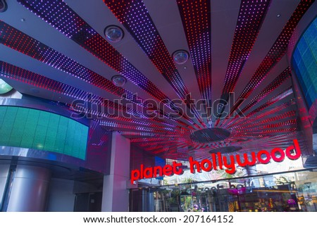 LAS VEGAS - JULY 21 : Planet Hollywood Resort and Casino on July 21 , 2014 in Las Vegas. Planet Hollywood has over 2,500 rooms available and it located on Las Vegas Boulevard.