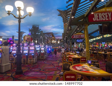 LAS VEGAS -JULY 31: The interior of Paris hotel and casino on July 31, 2013 in Las Vegas, Nevada,  The Paris hotel opened in 1999 and features a replica of the Eiffel Tower.
