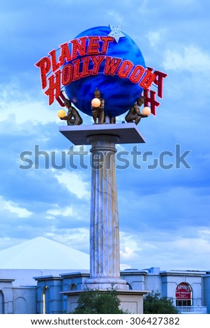 LAS VEGAS, JULY 6 2015: The Planet Hollywood Resort and Casino seen  in Las Vegas. The casino originally opened under the name Tally-Ho in 1963. - stock photo