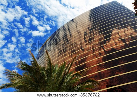 LAS VEGAS - JULY 28: Wynn Las Vegas Resort and Country Club located on the Las Vegas Strip on July 28, 2011 in Las Vegas. Wynn opened on April 28, 2005 and cost US$2.7 billion to build. - stock photo