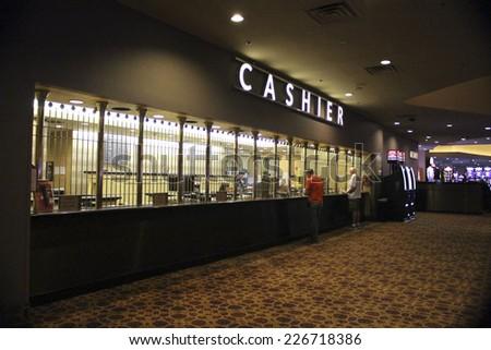 Las Vegas Luxor Hotel Casino Cashier on October 2014 - stock photo